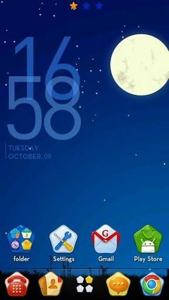 Go Launcher Night Sky Theme