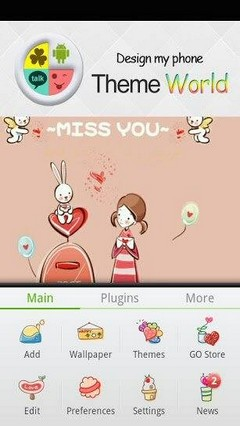 Miss you Girl Go Launcher Theme