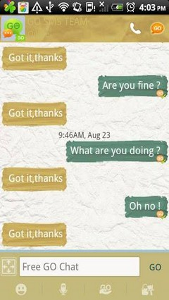 Paper Go SMS Pro Theme