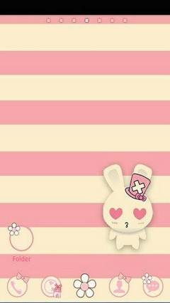 Go Launcher Rabbit Couple Theme