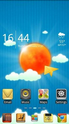 Sun And Sky GO launcher theme