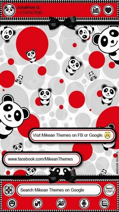GO Theme Polkadots Panda Red