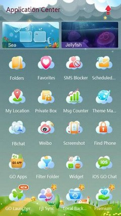 GO SMS Pro Shimmer Theme EX