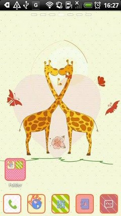Go Launcher Giraffe Theme