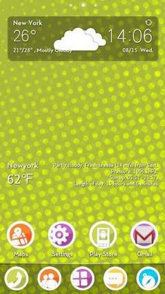Polkadot GO LauncherEX Theme