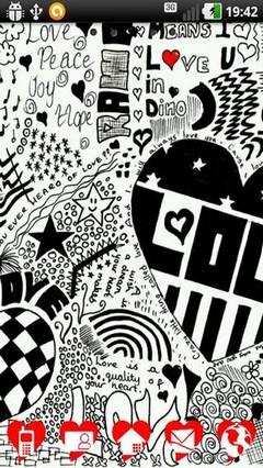 Doodle Love Go Launcher Theme
