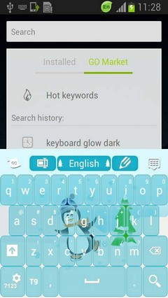 Winter Keyboard Happy