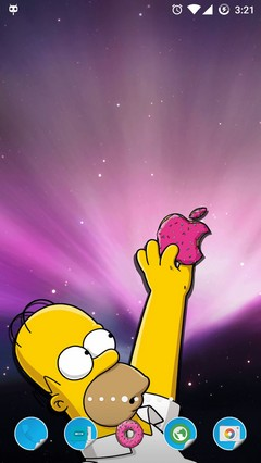 Homer Simpson Apple Theme Android