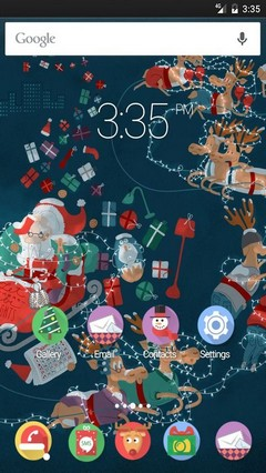 Xmas Roller Coaster Multi Launcher Theme