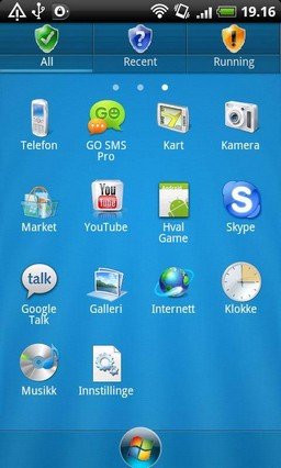 Windows 7 - GO Launcher EX Theme