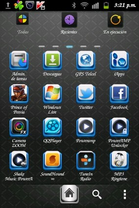Black Cool Go Launcher Theme v1.6