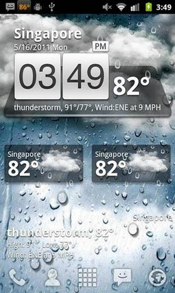 GO Weather Widget Skin Simple