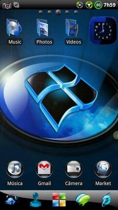 Windows 7 Ultimate GO Launcher EX v1.05