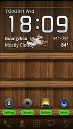 Wood Theme GO Launcher EX