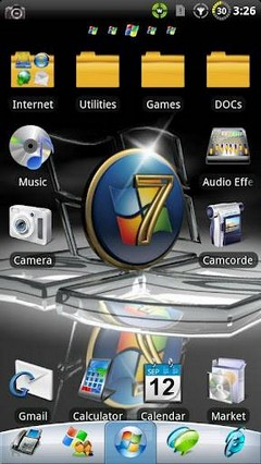 Windows 7 GO Launcher EX Theme 1.22