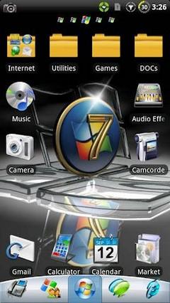 Windows 7 GO Launcher EX Theme 1.22