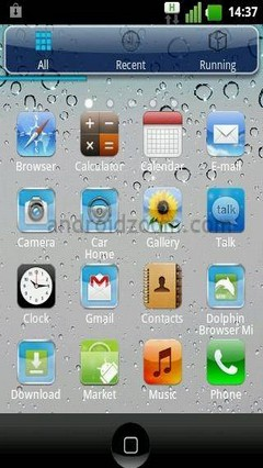 Iphone 4S Go Launcher EX Theme