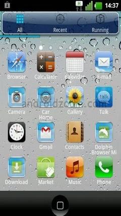 Iphone 4S Go Launcher EX Theme