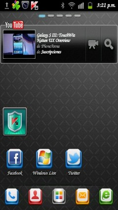 Black Cool Go Launcher Theme v1.6