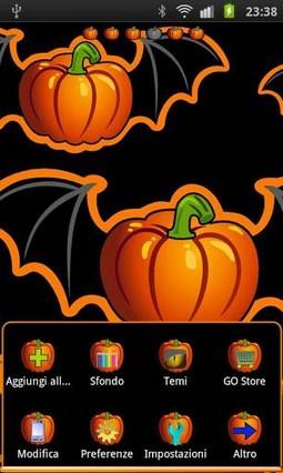 Halloween Pumpkin The Go Launcher Theme