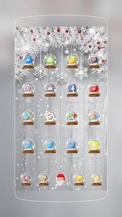 Silver Glittery Christmas