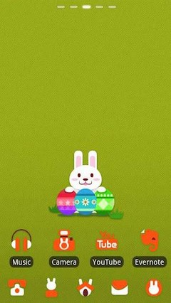 Easter Rabbit GO LauncherEX Th