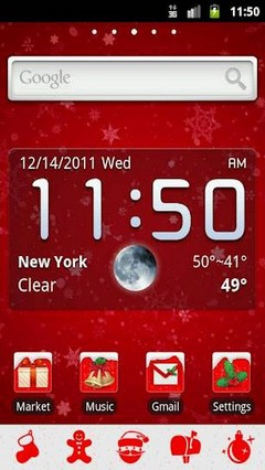 GO Launcher EX Theme Christmas