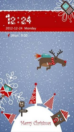GO Locker Xmas Moose Theme
