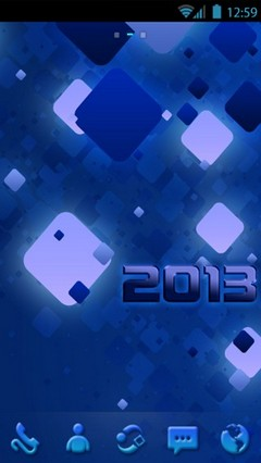 Happy 2013 Blue