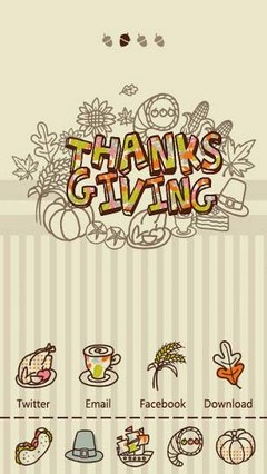 S-ThanksgivingGOLauncher Theme