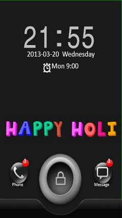 Happy Holi GO Locker Theme