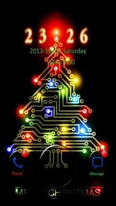 Colorful Digital Xmas Tree Go Locker