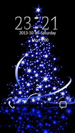 Blue Christmas Tree Go Locker