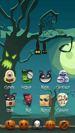 Hallow Night GO Launcher Theme