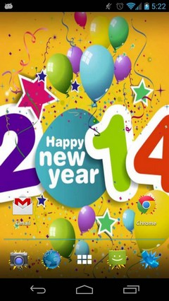 Happy New Year 2014 HD Theme (Apex/Nova/ADW/Go/Next/SS)