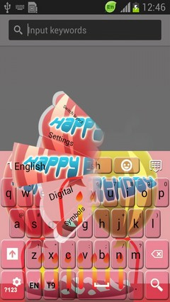 Pink Birthday Keyboard
