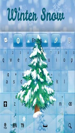 Winter Keyboard Snow for GO