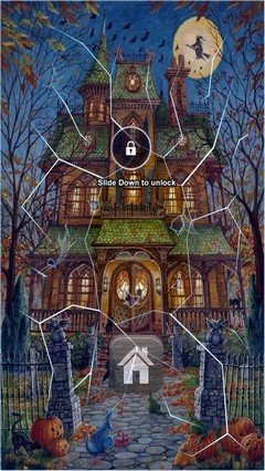 Big Halloween House Lock Screen