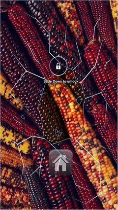 Colored Corn Lock screen