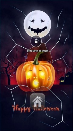 Cute Happy Halloween Lock Screen