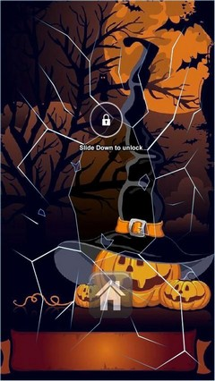 Cute Pumpkin Hat Lock Screen