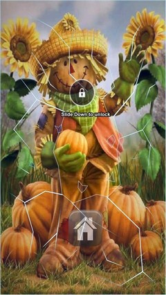 Cute Scarecrow Lock Screen