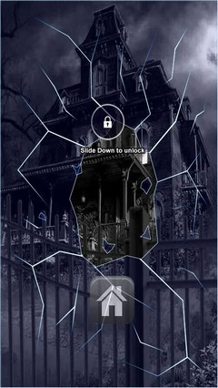 Dark Haunted Mansion Lock Screen