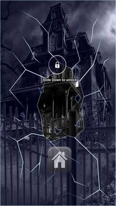 Dark Haunted Mansion Lock Screen
