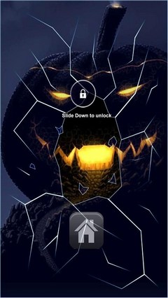Dark Pumpkin Lock Screen