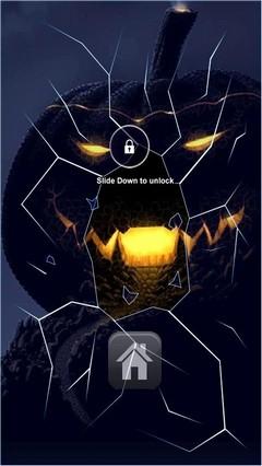 Dark Pumpkin Lock Screen