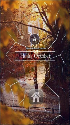 Hello October Lock Screen