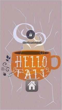 Hello Fall Warm Cup Lock Screen