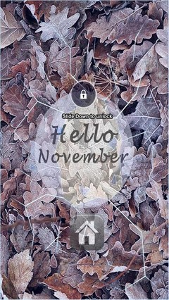 Hello November Lock Screen
