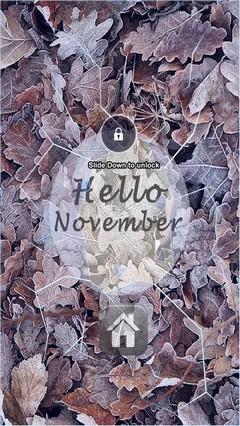 Hello November Lock Screen